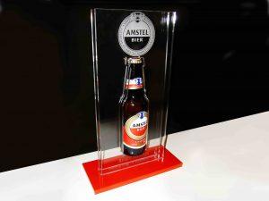award amstel fles lasergravure perspex