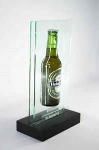 award heineken perspex lasersnijden