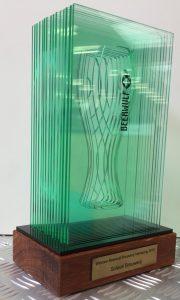 award hout fles glas
