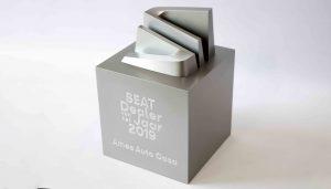 award seat aluminium look 3d print lasergravure